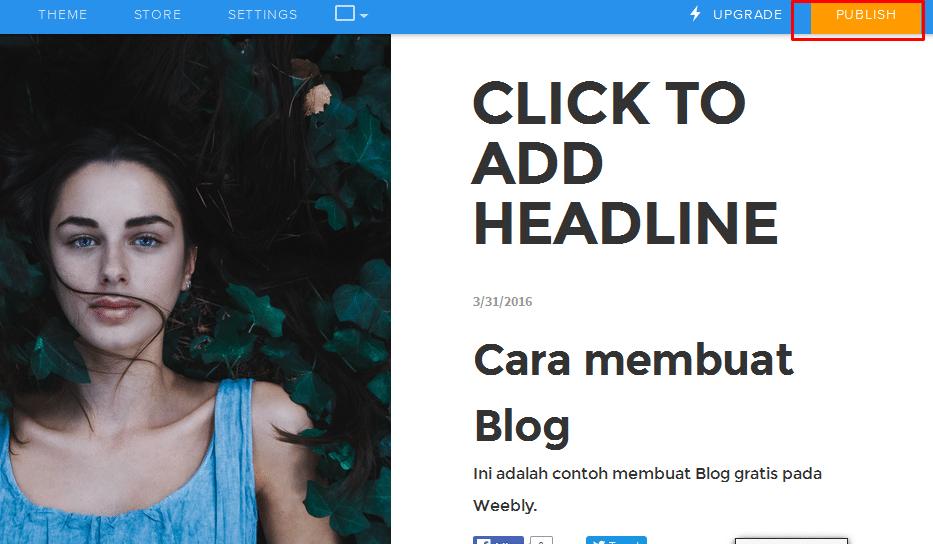 Cara membuat Blog di Weebly 13