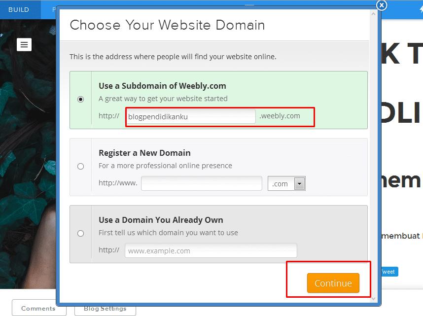 Cara membuat Blog di Weebly 14