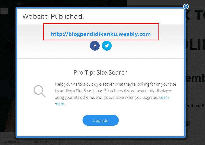 Cara membuat Blog di Weebly 16