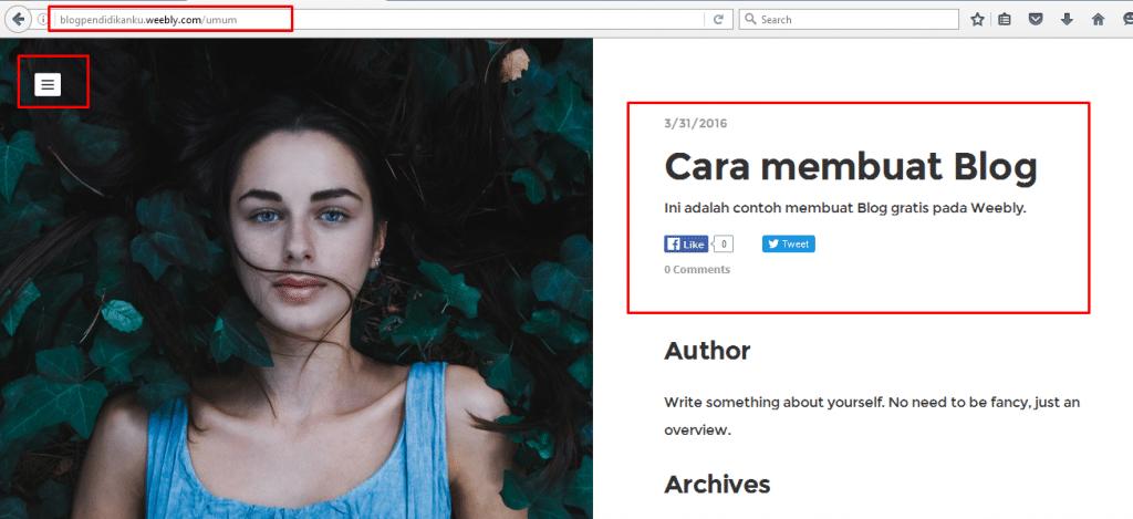 Cara membuat Blog di Weebly 17