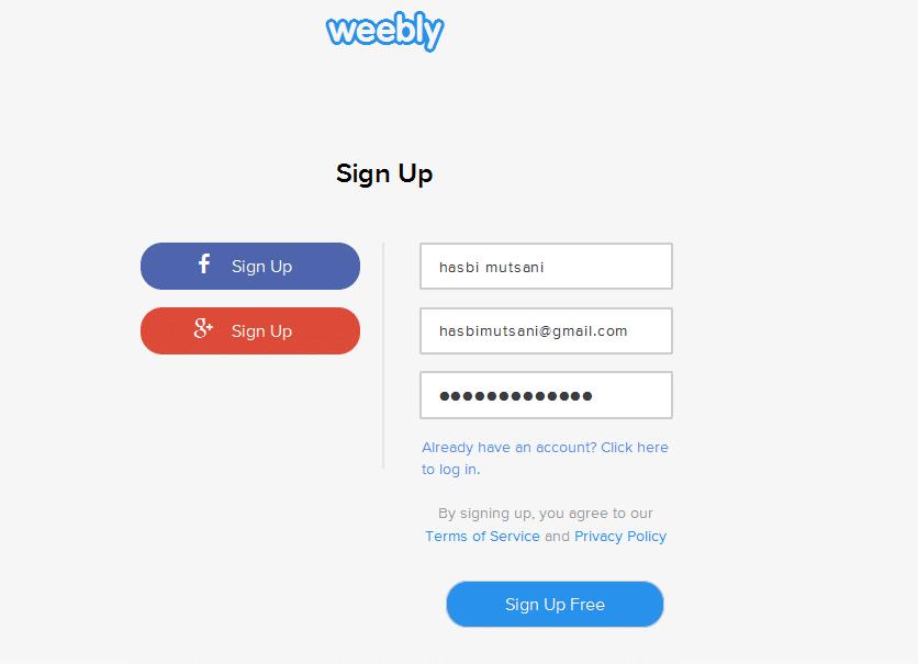 Cara membuat Blog di Weebly 2