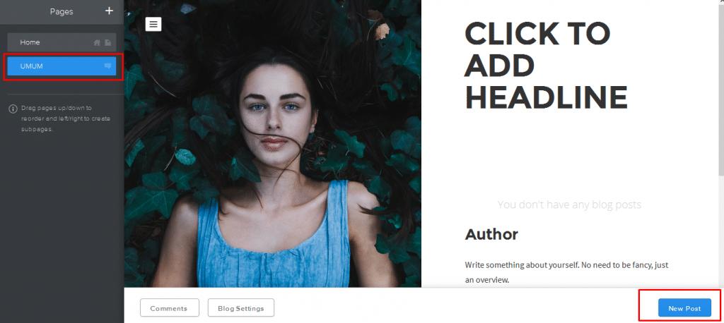 Cara membuat Blog di Weebly 9