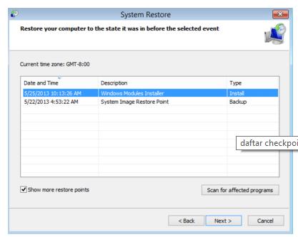 2 Cara Menggunakan System Restore pada Windows 8.1 Paling Mudah dan Cepat 3