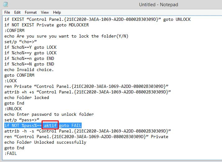 Cara Yang Lebih Mudah Mengunci Folder Dengan Password di Windows Tanpa Software 4