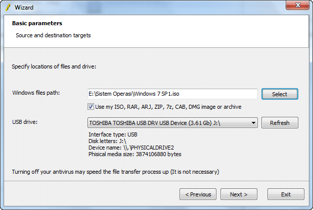 Instal Win7 menggunakan Flashdisk 2