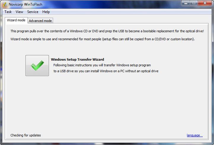 Instal Win7 menggunakan Flashdisk