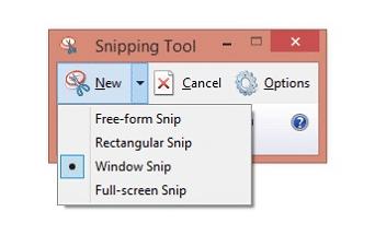 Menggunakan Snipping Tool
