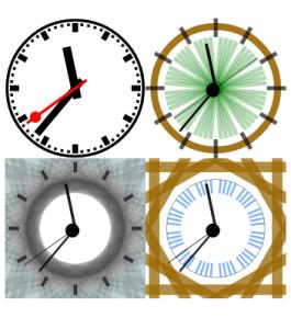contoh jam analog