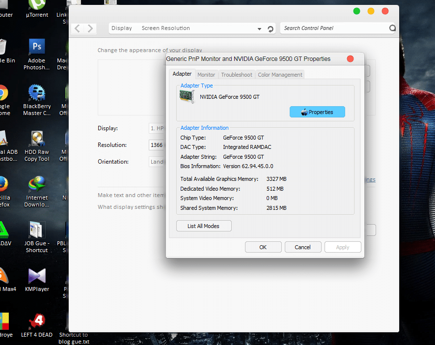 Cara Melihat Kapasitas Graphic Card atau Video Card di Windows