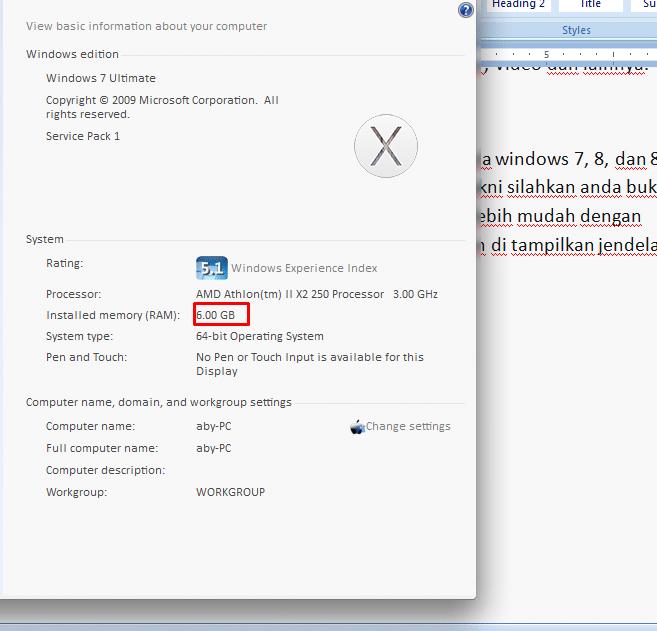 Cara Melihat Kapasitas RAM di Windows
