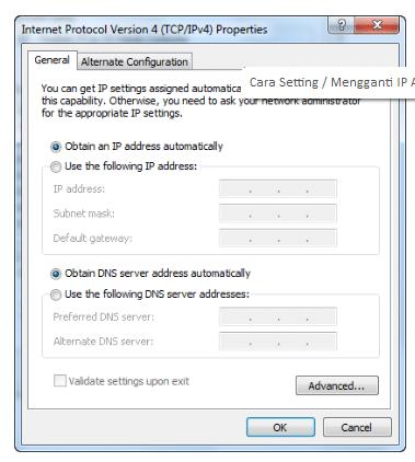 Cara Seting Atau Mengganti IP Address di Windows 7, 8, dan 10 6