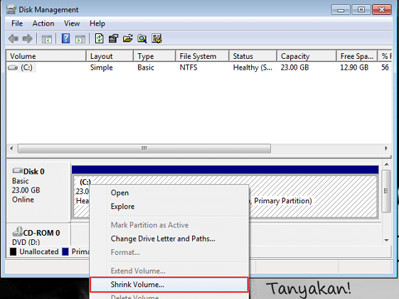 Cara Membuat Partisi di Windows 7 2