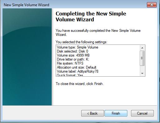 Cara Membuat Partisi di Windows 7 9