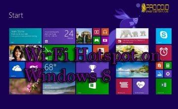 Cara Membuat Wifi Hotspot Menggunakan Windows 8 | Pro.Co.Id
