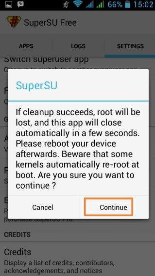 Menggunakan SuperSU