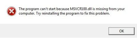 error-msvcr100-dll