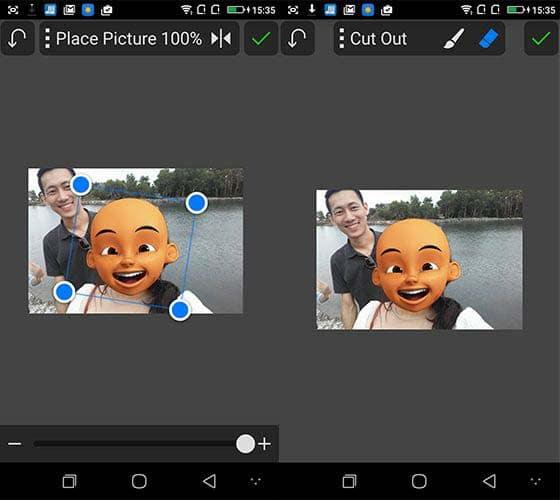 Cara Edit Foto Kepala Upin Ipin Dengan PicSay