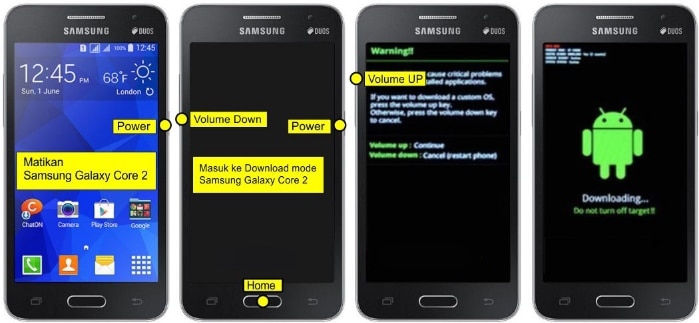 Cara Flash Samsung Galaxy Core 2 SM-G355H