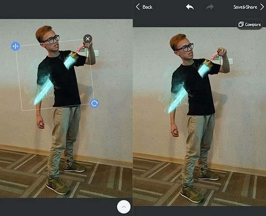 Cara Membuat Foto Tertusuk Pedang Goblin