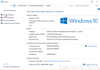 Cara Update Driver Windows 10