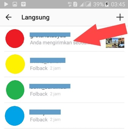 Cara menghapus direct message