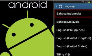 Menambah Bahasa Indonesia Di Android