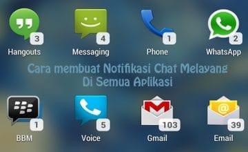 Cara Membuat Notifikasi Chat Melayang