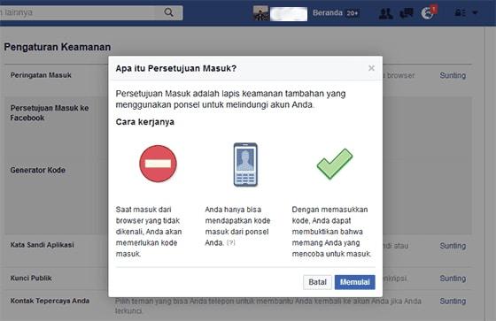 Cara Mengaktifkan Verifikasi 2 Langkah di Facebook