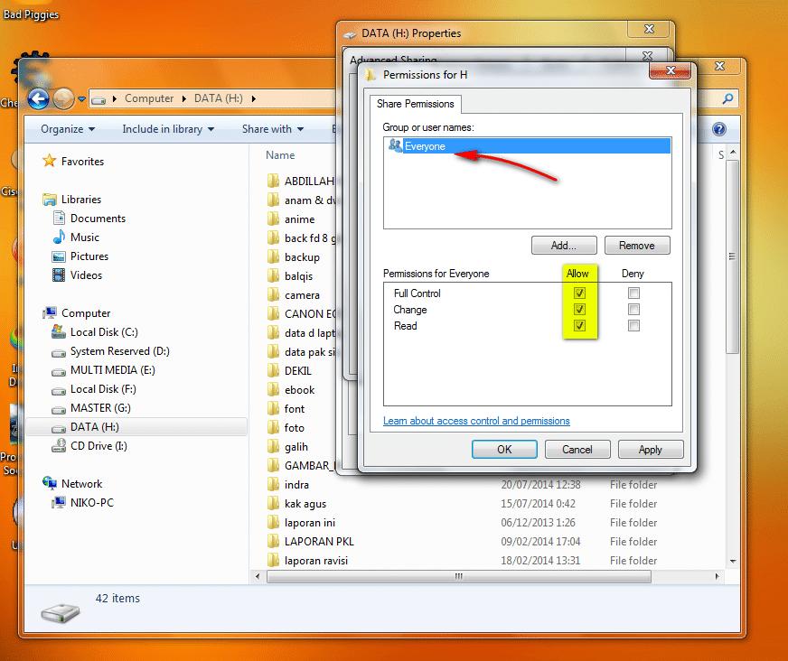 Cara Sharing Drive atau Local Disk Pada Windows3