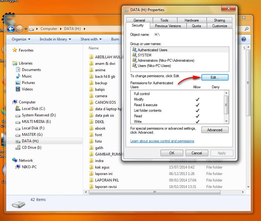 Cara Sharing Drive atau Local Disk Pada Windows4