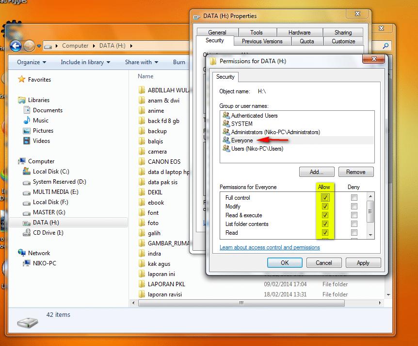 Cara Sharing Drive atau Local Disk Pada Windows9