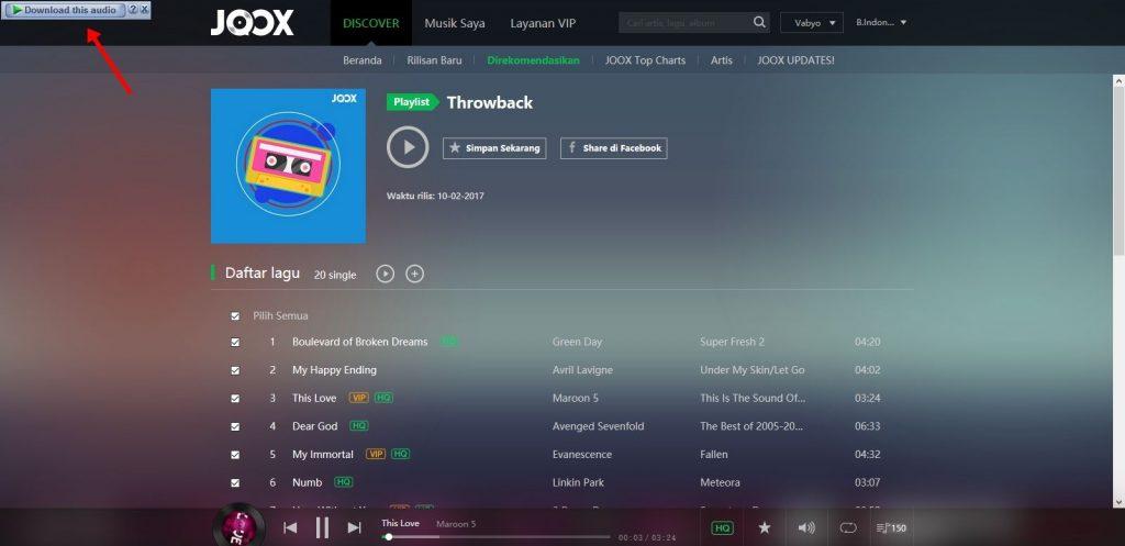 Cara Download Lagu di JOOX4