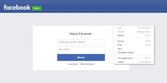 Cara Hack Akun Facebook dengan Login Palsu