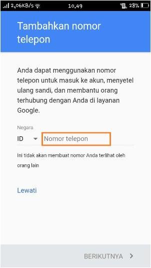 Cara Membuat Akun Gmail di Smartphone Android, Sangat