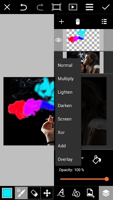 2 Cara Edit Foto Asap Rokok Berwarna Dengan PicsArt dan ...