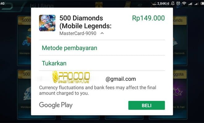 Hasil gambar untuk diamonds mobile legends google play