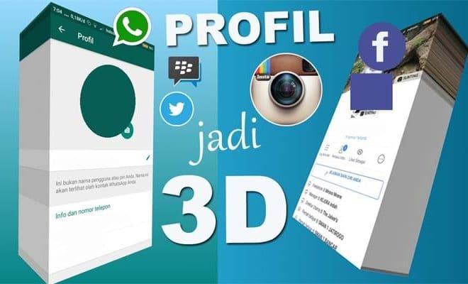 Begini Cara Membuat Foto Profil 3d Di Whatsapp Instagram Facebook