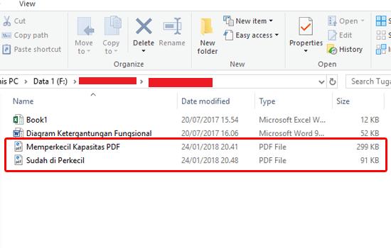 cara memperkecil ukuran pdf di pc