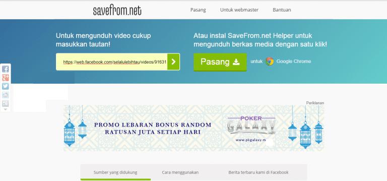 Cara Download Video Facebook Lewat PC6
