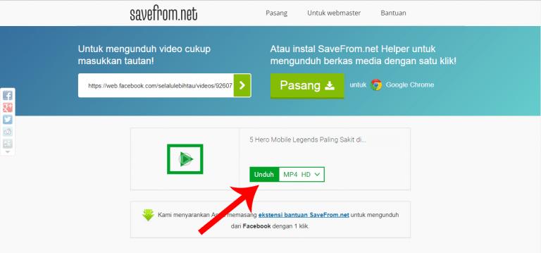 2 Cara Download Video Facebook Lewat PC Tanpa Aplikasi
