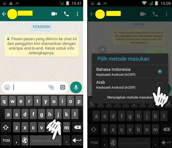 Cara Membuat Tulisan Arab di WhatsApp3