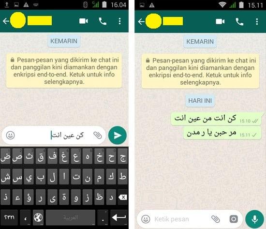 Cara Membuat Tulisan Arab di WhatsApp4