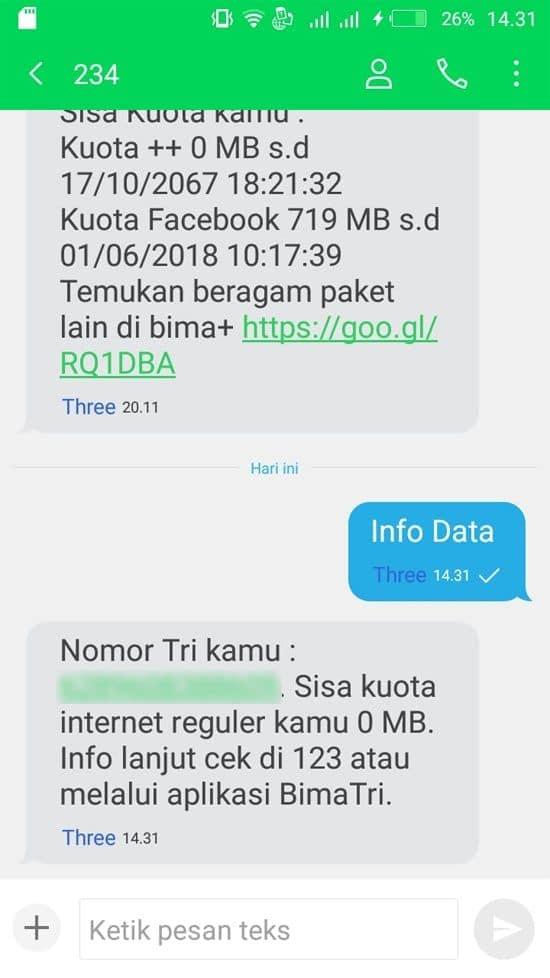 Cara Mengecek Kuota Internet Semua Operator19