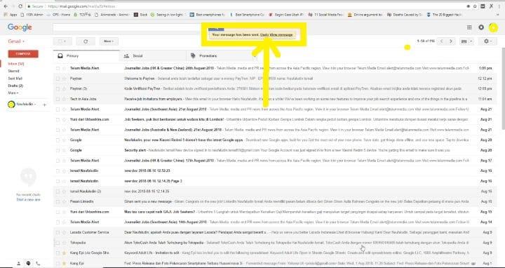 Cara Membatalkan E-mail yang Sudah Terkirim di Gmail4