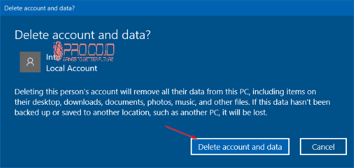 Cara Menghapus User Accounts di Windows 10 3