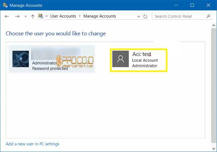 Cara Menghapus User Accounts di Windows 10 7