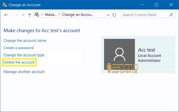 Cara Menghapus User Accounts di Windows 10 8