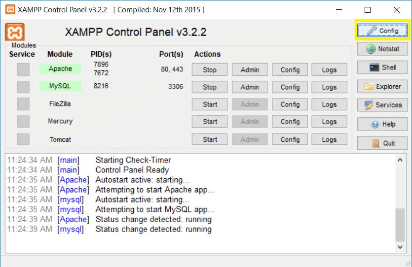 Cara Menjalankan XAMPP Saat Startup Windows 10