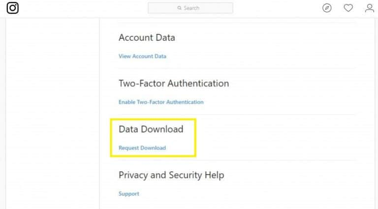 Cara backup data di Instagram (pro.co.id)