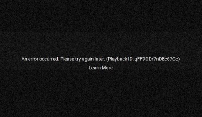 Cara Memperbaiki Youtube Error Playback Id